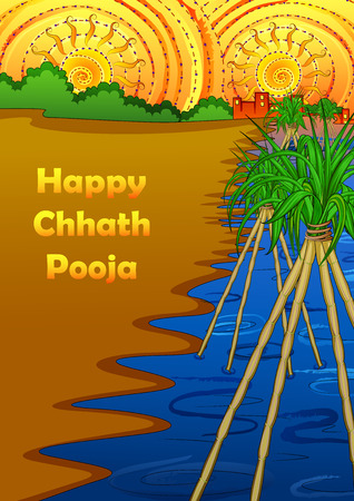 Festival background of Chhath Pooja holiday in India