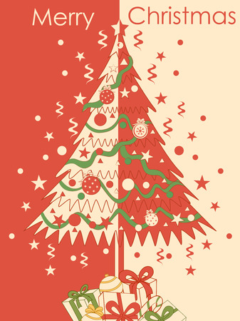 Merry Christmas festival celebration background with pine tree Imagens - 112646688