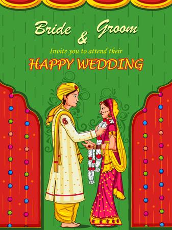 Couple indien à Jaimal cérémonie de mariage de l'Inde