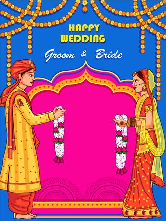 Indian couple in Jaimal wedding ceremony of India