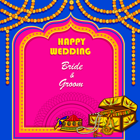 Indian Wedding ceremony Invitation card