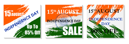 Sale Promotion and Advertisement for 15th August Happy Independence Day of India 版權商用圖片 - 128319167