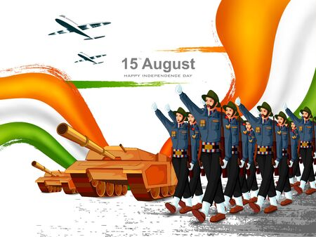Indian tricolor background for 15th August Happy Independence Day of India Zdjęcie Seryjne