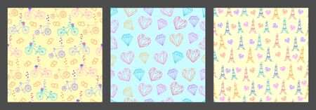 Happy Valentines Day greetings seamless pattern background