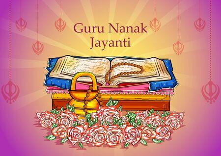 Punjabi festival Guru Nanak Jayanti celebrating birthday of tenth guru and founder of Sikhism, Baba Nanak