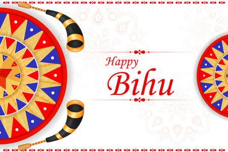 Assamese Happy New Year Bihu celebrated in Assam, India 矢量图像