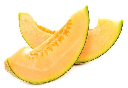 cantaloupe melon isolated on white background 版權商用圖片