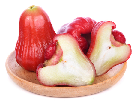 Rose apples isolated on white background. 스톡 콘텐츠