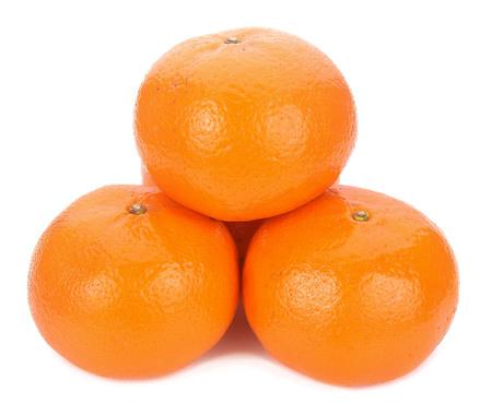 Ripe orange isolated on white background Stockfoto