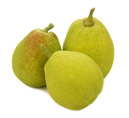 Chinese fragrant pear on white background Stock Photo