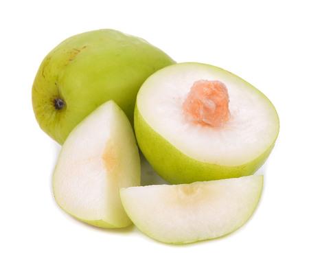 Pomme singe isolé sur fond blanc Banque d'images