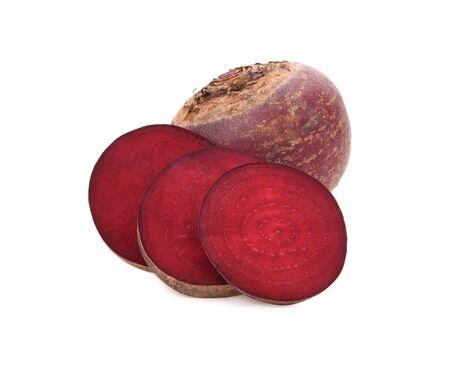 Fresh beetroot isolated on white background