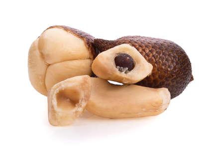 Salak fruit or snake fruit isolated on white background