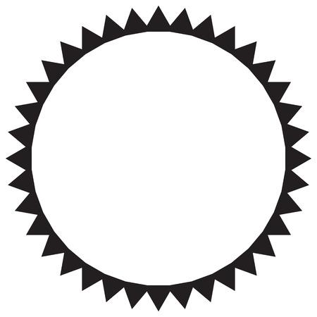 Vector black and white sun Illustration