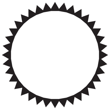 zeichnung: Vector black and white sun Illustration