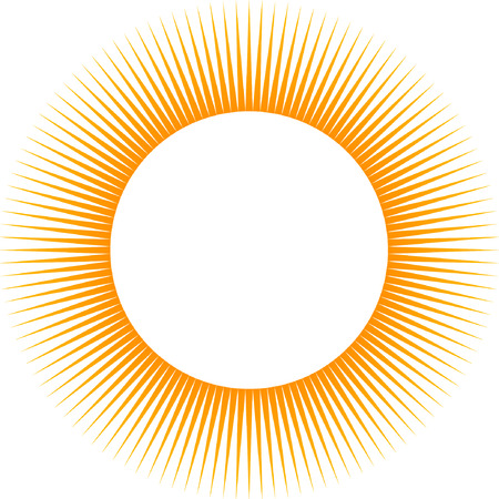 Rays, beams element. Sunburst, starburst shape