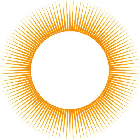 Rays, beams element. Sunburst, starburst shape