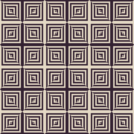 Abstracte geometrische zwart-witte vintage mode mode patroon vector Stock Illustratie
