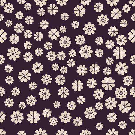Naadloos zwart-wit patroon met bloem achtergrond met uitstekende manierstijl.