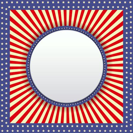 radiale achtergrond met ronde banner vector.