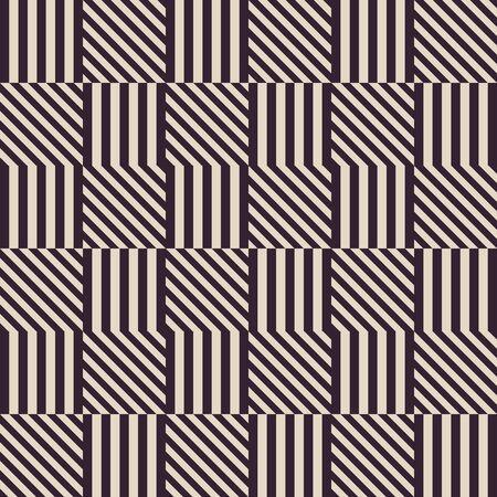 Vector modern abstract meetkundepatroon. zwart en wit naadloze geometrische vintage kleurstijl Stock Illustratie