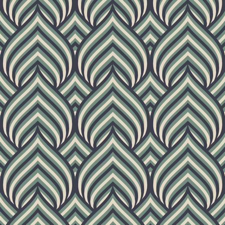 Naadloos patroon. Grafisch ornament. Vector die textuur met de gestileerde wijnoogst van de bladerenkleur herhalen
