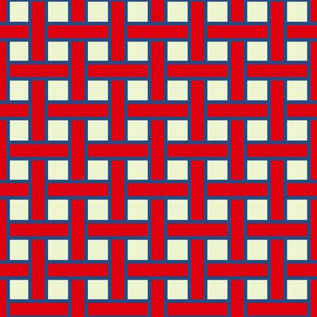 Herhalende geometrische strepen betegelen. Sier stijlvolle textuur. Vector naadloze zwart-wit patroon. usa kleurstijl
