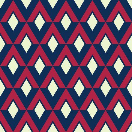 Grafisch geometrisch patroon, de VS kleurstijl rode witte blauwe manierstijl