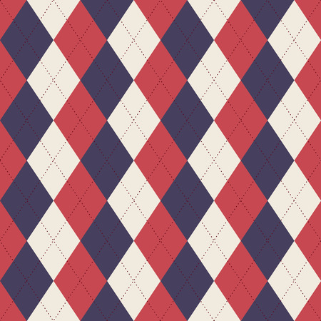 Een naadloze de kleurenstijl van de VS De Illustratie van de Sweater van Argyle illustratie.