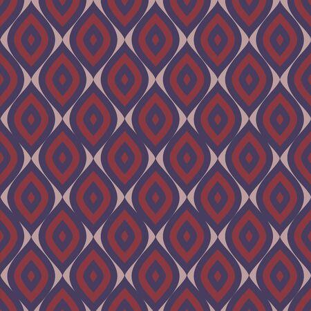 Abstracte naadloze vector de illustratiestijl van de ornamentpatroon vectorillustratie.