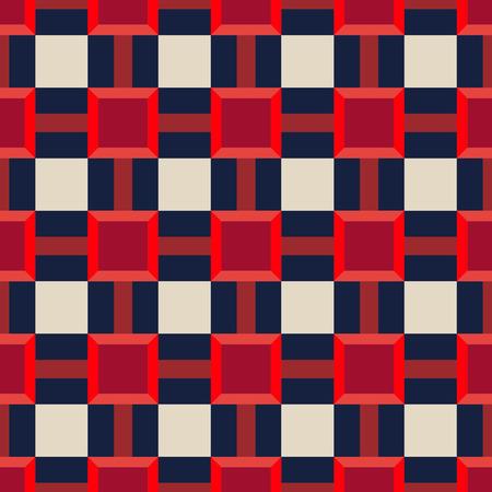 Abstract Naadloos de kleurenstijl van de VS Art Deco Lattice Vector Pattern