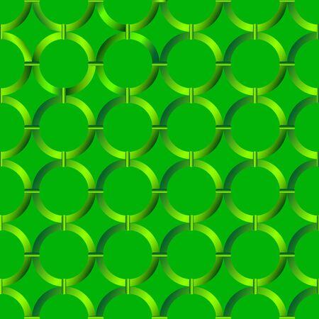 stof dreen kleur cirkels naadloze patroon vector Stock Illustratie