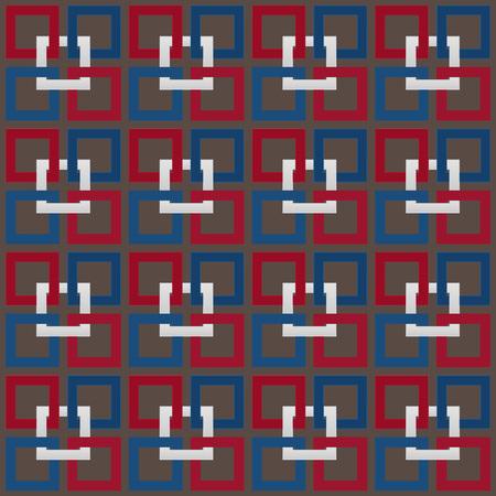 Usa kleur stijl stof afdrukken Naadloze vierkanten patroon vector