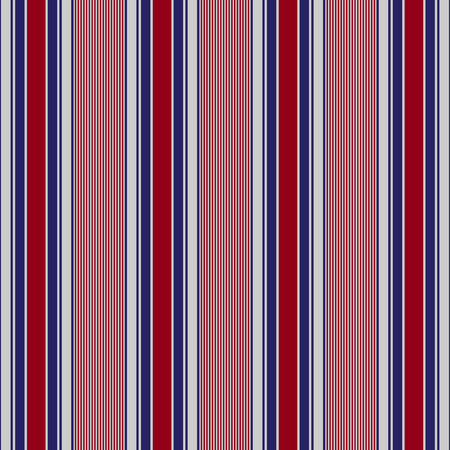 Fabric usa color style fashion seamless stripes pattern. Abstract vector background Çizim