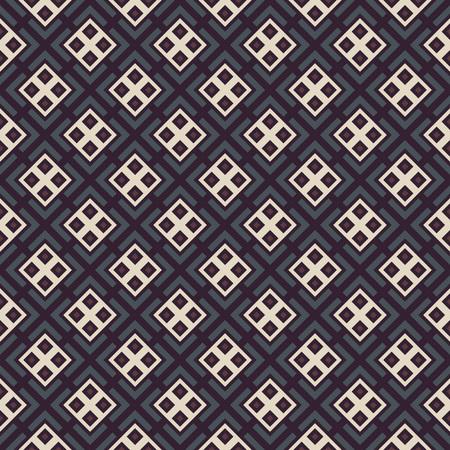Herhalende geometrische tegels met stoffen vintage kleurstijl