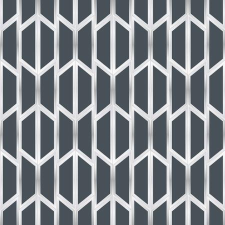 Abstracte naadloze patroon 3D-papier kunst stijl vector Stock Illustratie