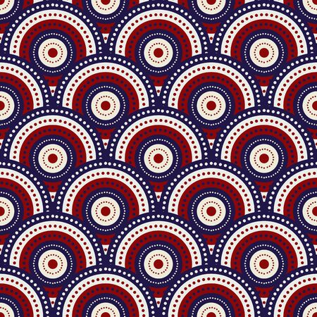 vector cirkel usa kleur mode-stijl Abstract Dot Pattern. Stock Illustratie