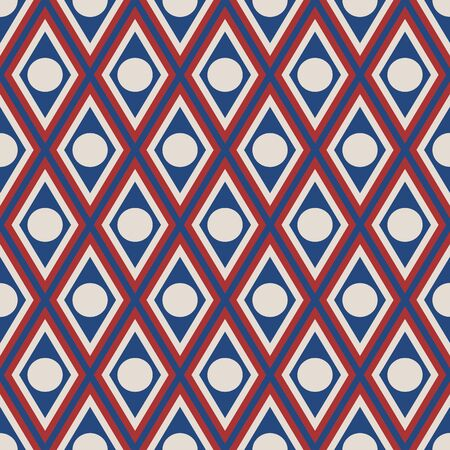 trapezoid and circle with usa color fashion style pattern texture background