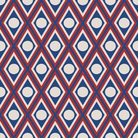 trapezoïde en cirkel met usa kleur mode stijl patroon textuur achtergrond Stock Illustratie