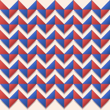 Naadloze chevron VS kleur stijl mode papier kunst achtergrond