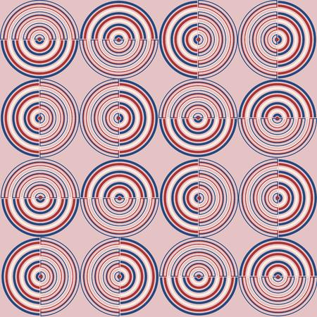 Naadloos geometrisch patroon. zoete kleding in de mode-stijl in de mode. Stock Illustratie