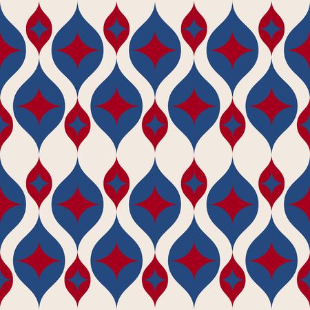 Een naadloze retro achtergrond in de moderne mode van de de kleurenstijl van het ikatpatroonv.s.