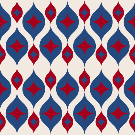 A Seamless retro background in modern ikat pattern usa color style fashion