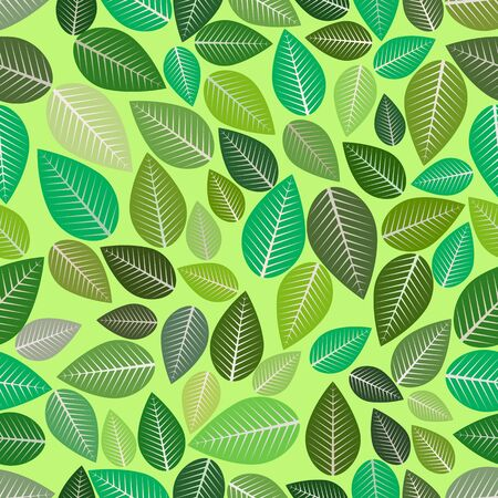 Naadloze bladeren aard decoratie patroon vector
