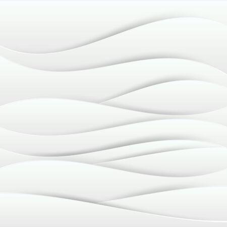 Abstracte witte gegolfde document kunstlagen met dalingsschaduwen. Vector illustratie