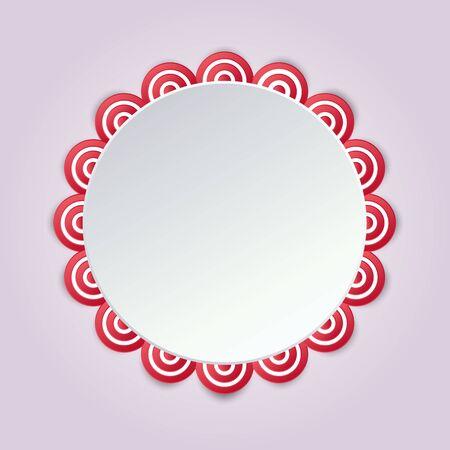 Cirular mandala-stijl in zoete kleuren. Stock Illustratie