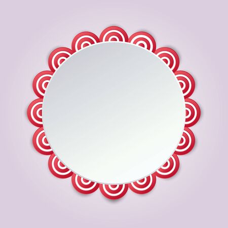 Cirular sweet color lace mandala style.