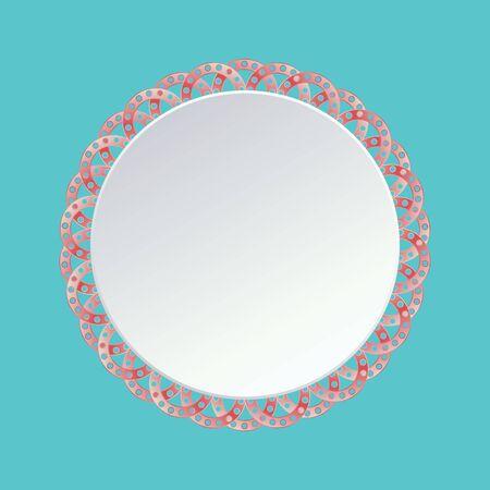 Zoet roze bloemframe, vectorillustratie. Stock Illustratie