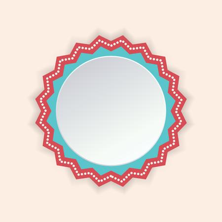 Het zoete ontwerp van de het pictogrambeeld van de kleuren lege embleem illustratie.