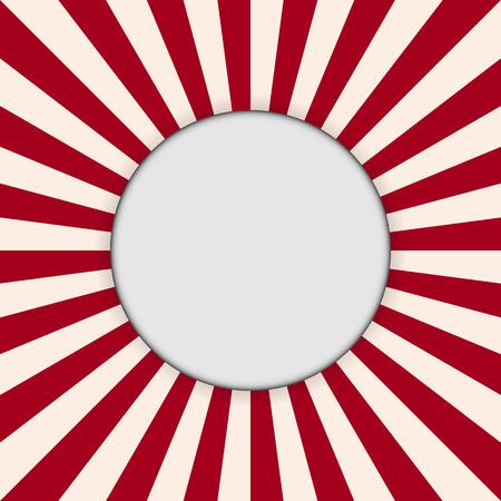 Rode zonstraal abstracte achtergronddocument kunststijl. Stock Illustratie